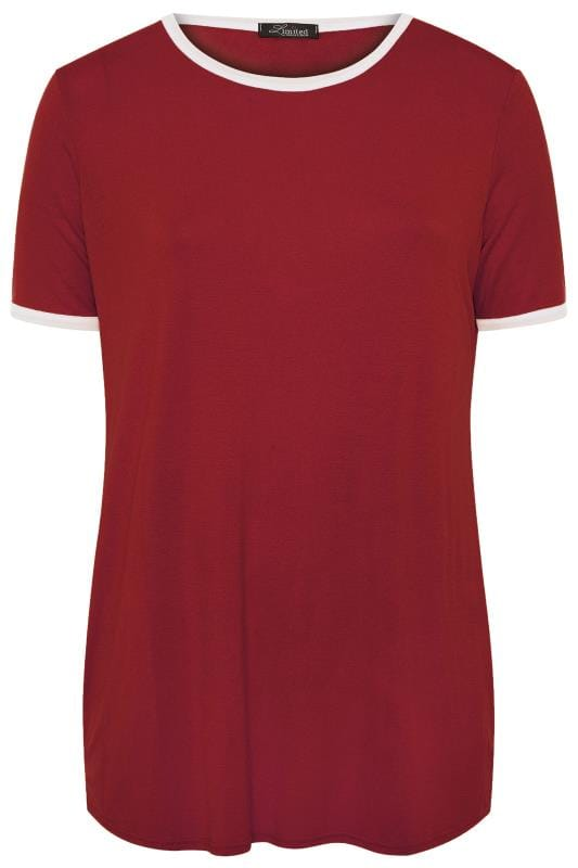 LIMITED COLLECTION Wine Red Ringer T-Shirt