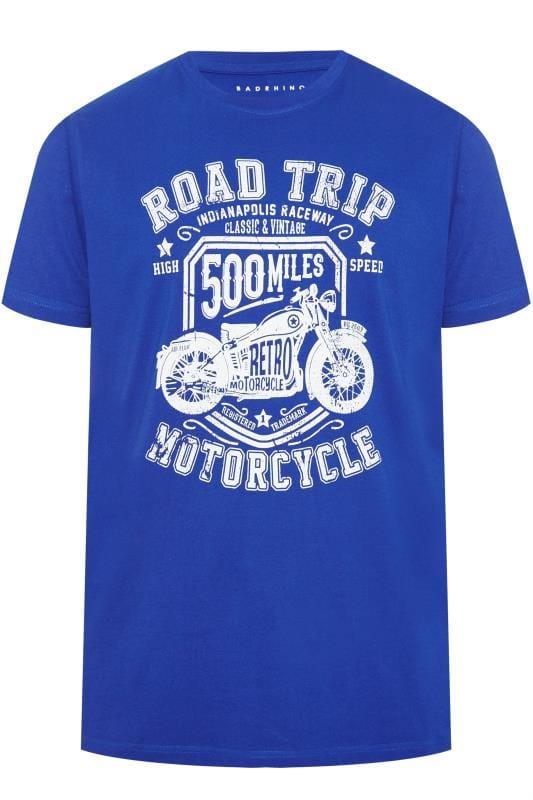 T-Shirts BadRhino Blue Road Trip Graphic Print T-Shirt 201266