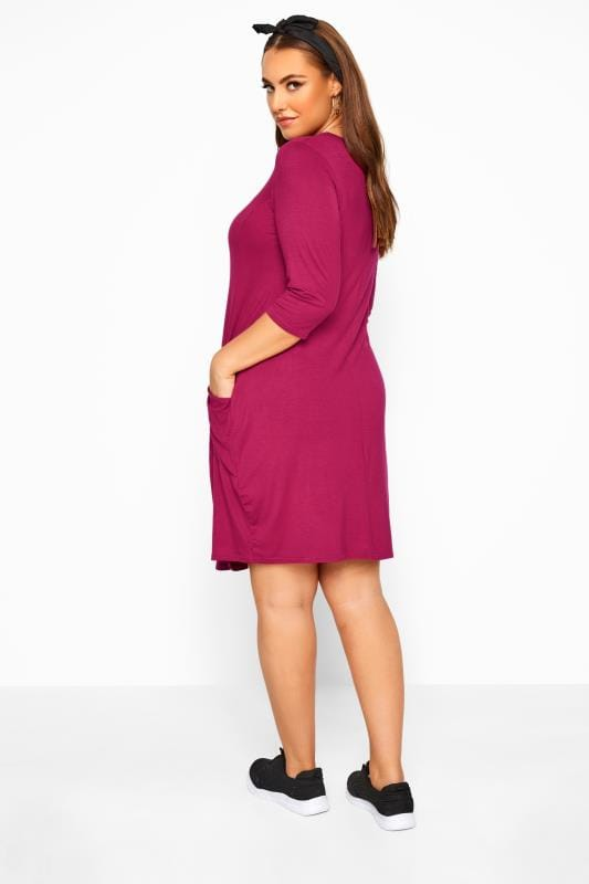 Rose Drape Pocket Dress