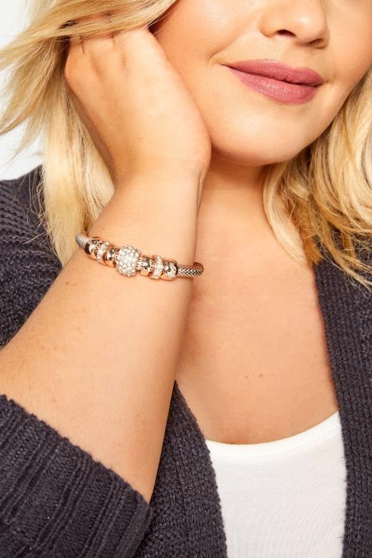 Plus Size Bracelets Rose Gold Charm Bracelet