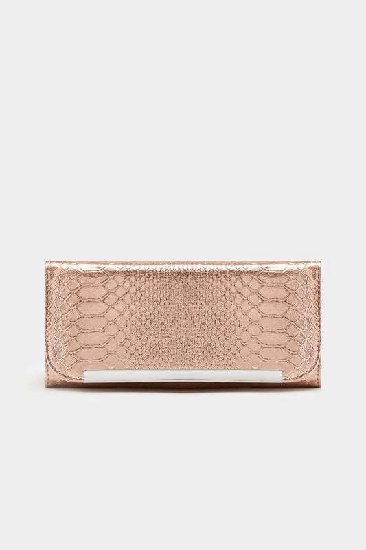 Rose Gold Snake Print Purse