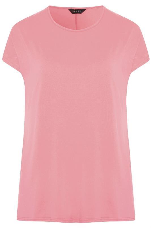 Rose Pink Dipped Hem Top