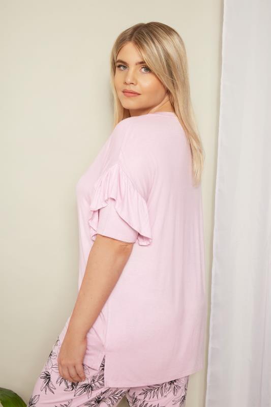 Rose Pink Frill Loungewear Top