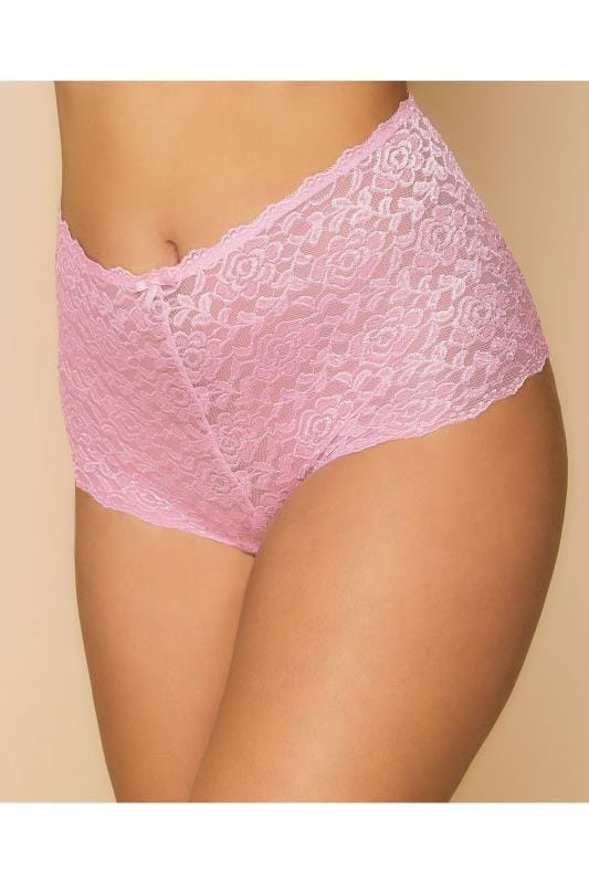 Rose Pink Shine Lace Shorts