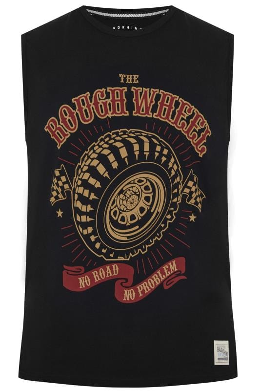 Vests BadRhino Black 'Rough Wheel' Slogan Vest Top 202296