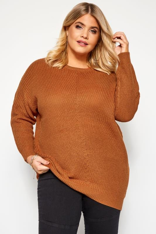 Rust Chunky Knitted Jumper