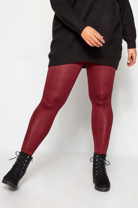 Plus Size Fashion Leggings Rust Fashion Leggings