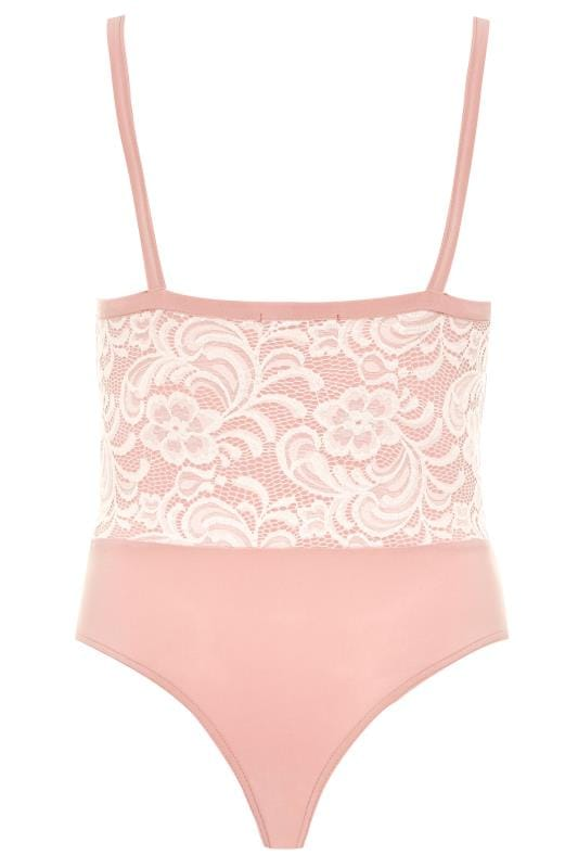 LIMITED COLLECTION Pink Scalloped Lace Bodysuit