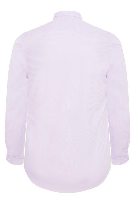 SCOTT & TAYLOR Light Purple Textured Shirt