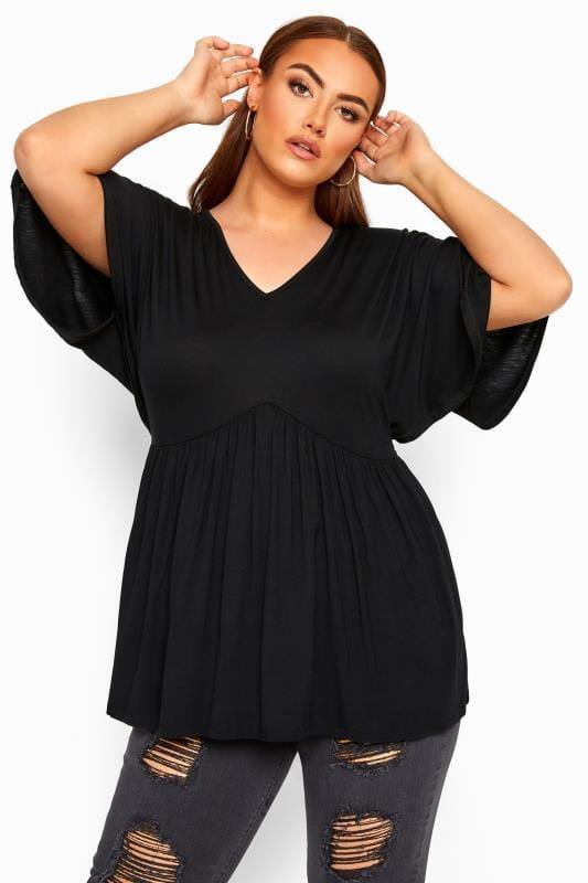 LIMITED COLLECTION Black Kimono Sleeve Smock Top