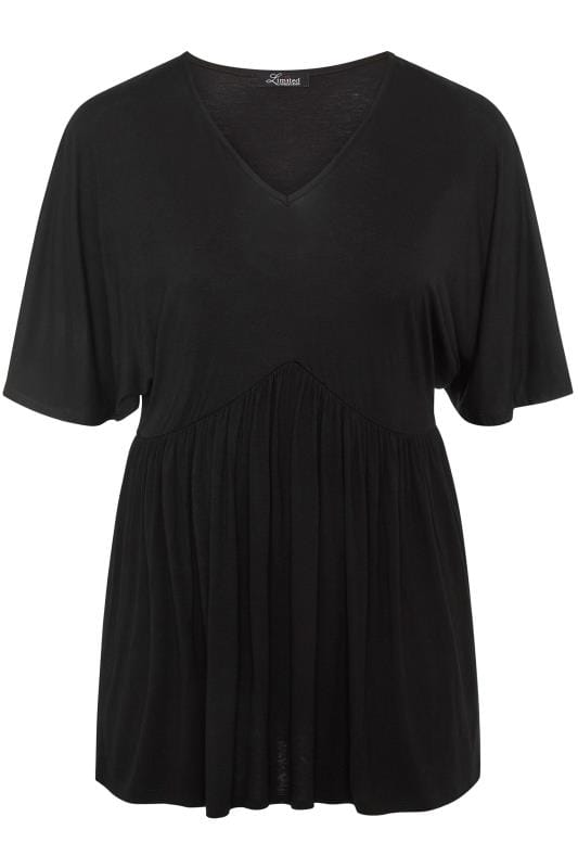 LIMITED COLLECTION Black Kimono Sleeve Smock Top