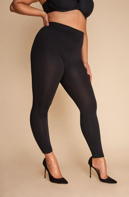 Plus Size Shapewear Black Slimming Control Leggings