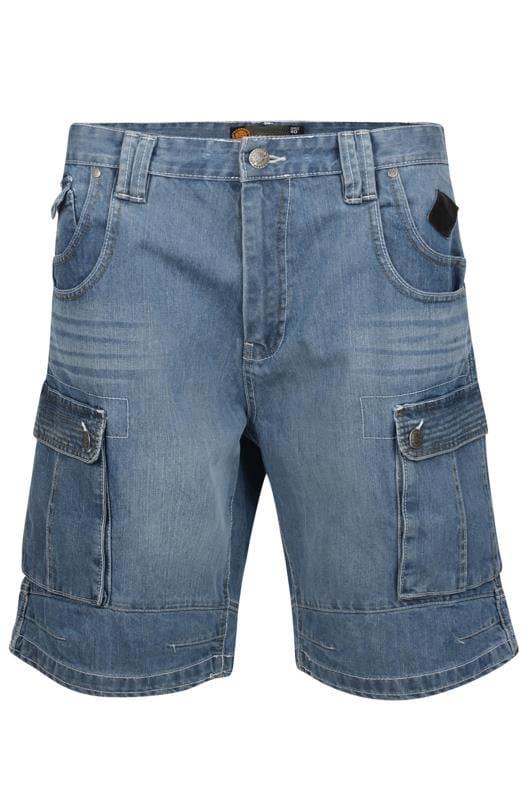 KAM Blue Denim Cargo Shorts
