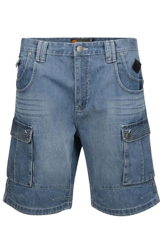 Men's Cargo Shorts KAM Blue Denim Cargo Shorts