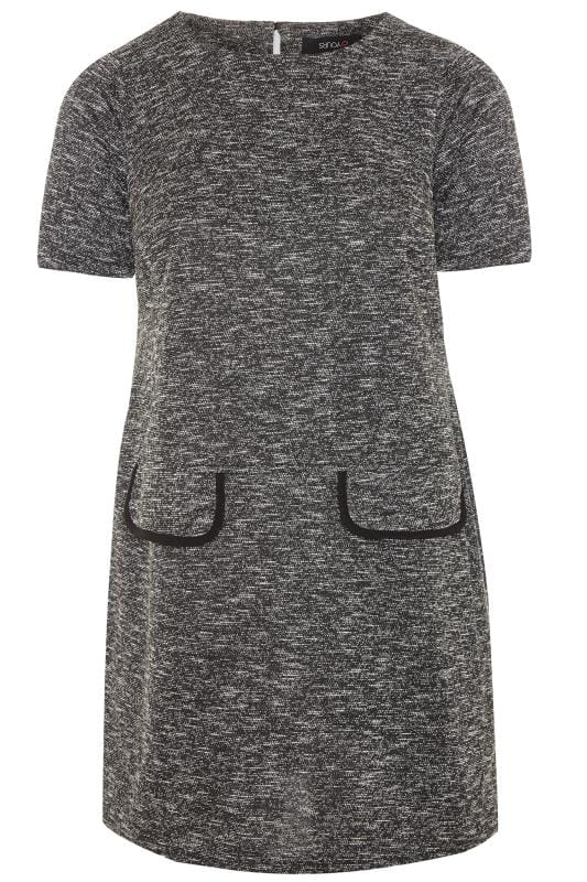 Grey Marl Pocket Tunic