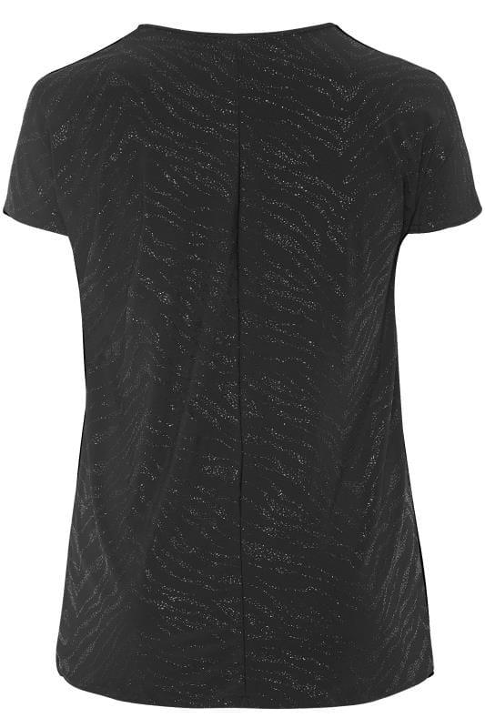 Black Textured Sparkle Top
