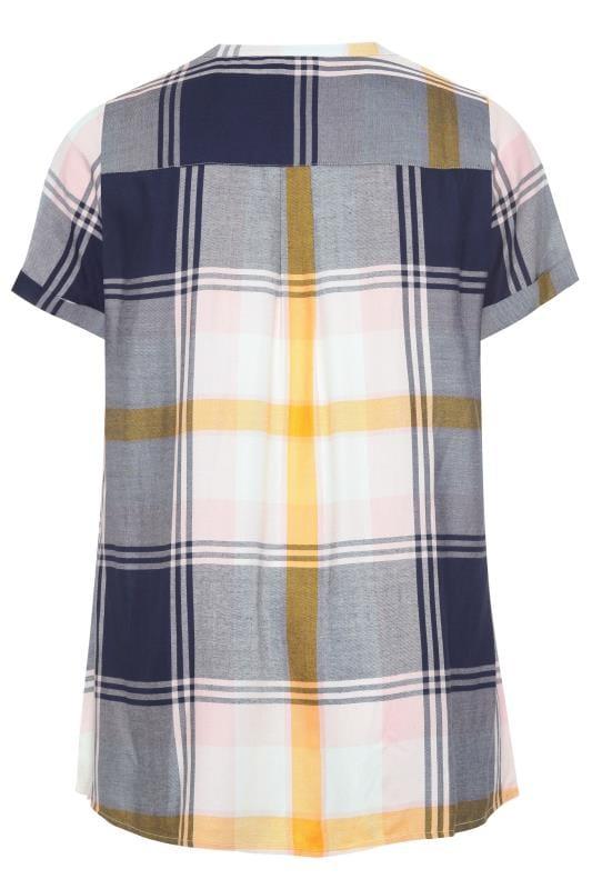 Navy & Yellow Check Shirt