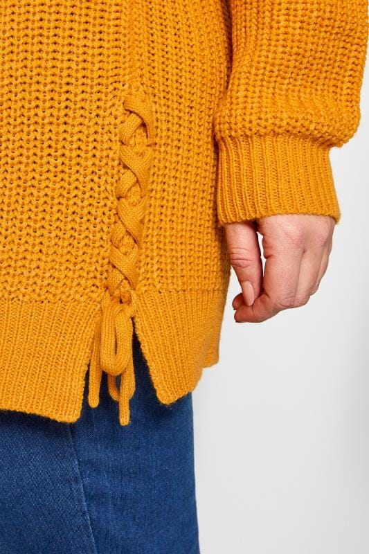 Mustard Yellow Cold Shoulder Jumper
