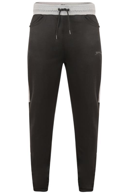 Plus-Größen Joggers SLAZENGER Black Zip Leg Joggers