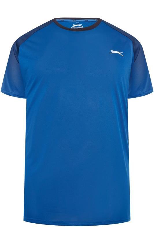 Große Größen T-Shirts SLAZENGER Blue Sports Top