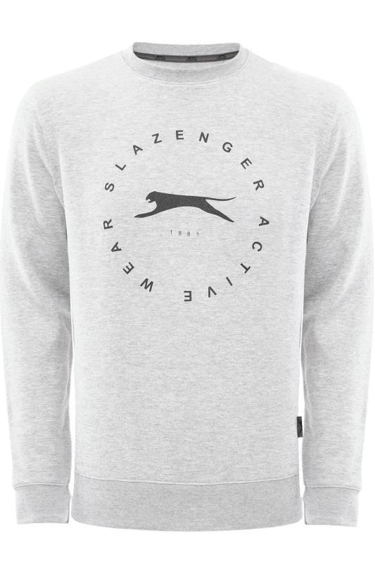 Sweatshirts Tallas Grandes SLAZENGER Grey Marl Logo Sweatshirt