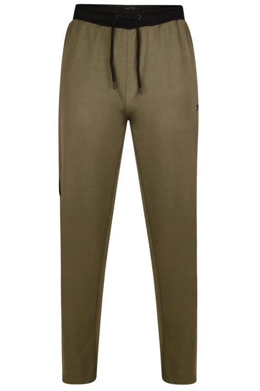 Joggers dla puszystych SLAZENGER Khaki Zip Leg Joggers