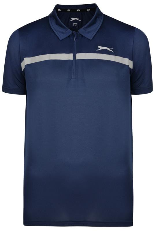 Plus Size Polo Shirts SLAZENGER Navy Sports Polo Shirt