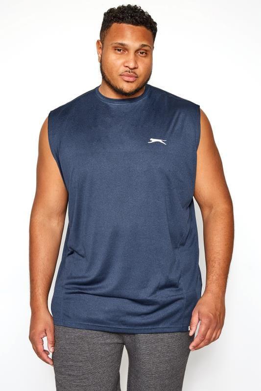 Plus-Größen Vests SLAZENGER Navy Sports Vest