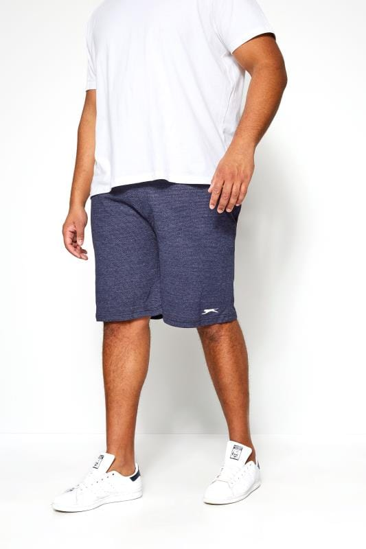 Große Größen Jogger Shorts SLAZENGER Navy Textured Jogger Shorts