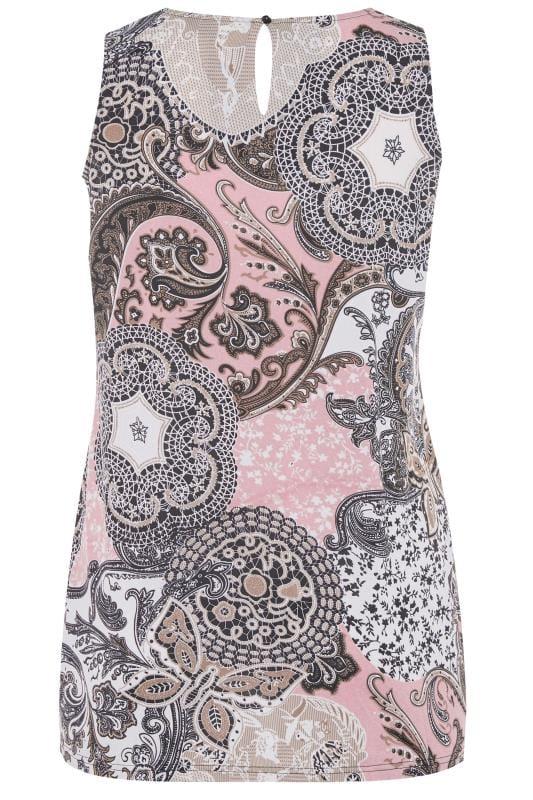 Pink Paisley Swing Vest Top