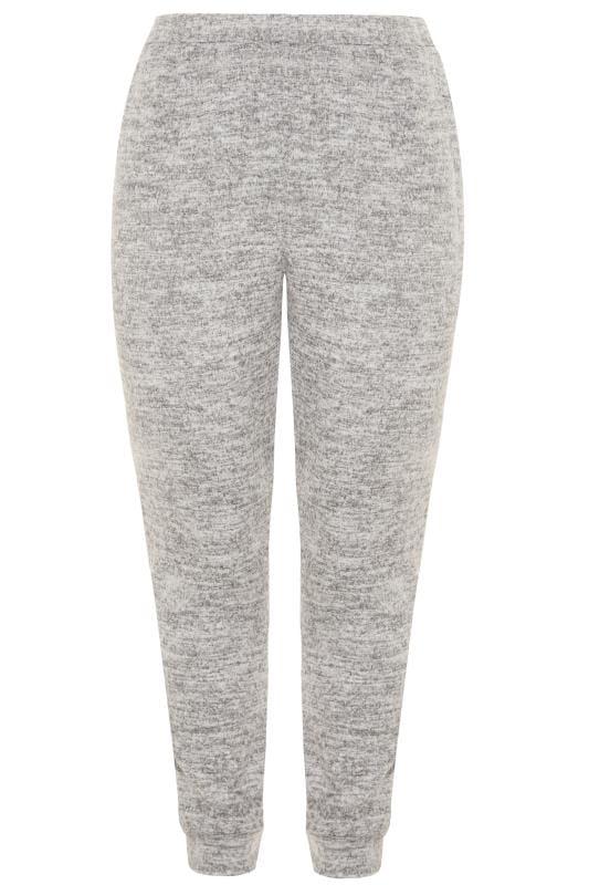 Große Größen Loungewear Grey Marl Soft Touch Lounge Pants