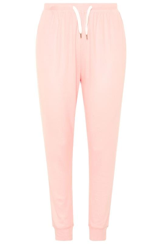Lounge-Hose aus Jersey - Rosa