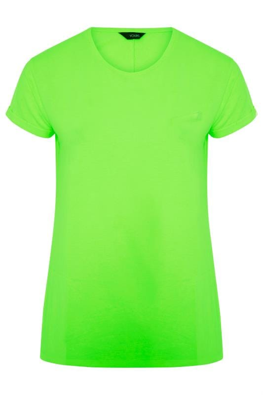 Neon Green Mock Pocket T-Shirt