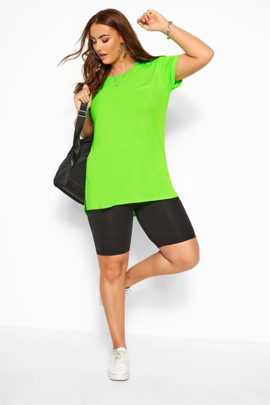 Neon Green Mock Pocket T-Shirt