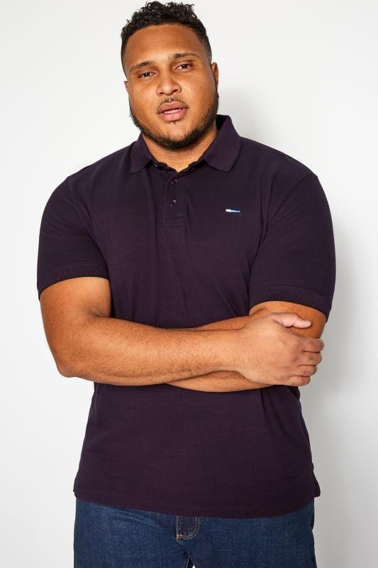Polo Shirts BadRhino Purple Birdseye Polo Shirt 201203