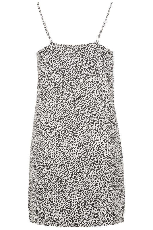 White Glitter Leopard Print Chemise