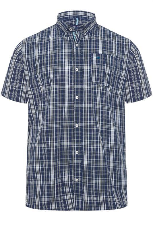BadRhino Blue Grid Check Shirt