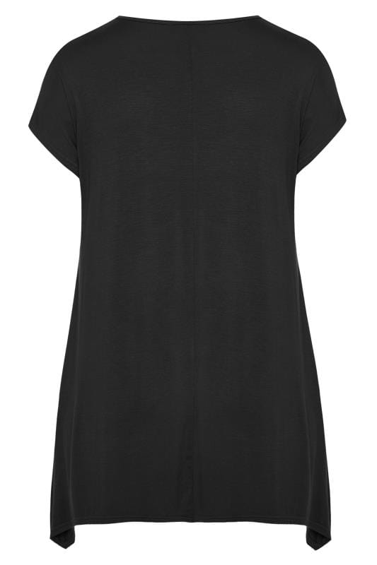 Black Lily Hanky Hem T-Shirt