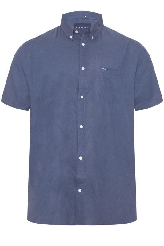 Men's Casual Shirts BadRhino Blue Linen Shirt