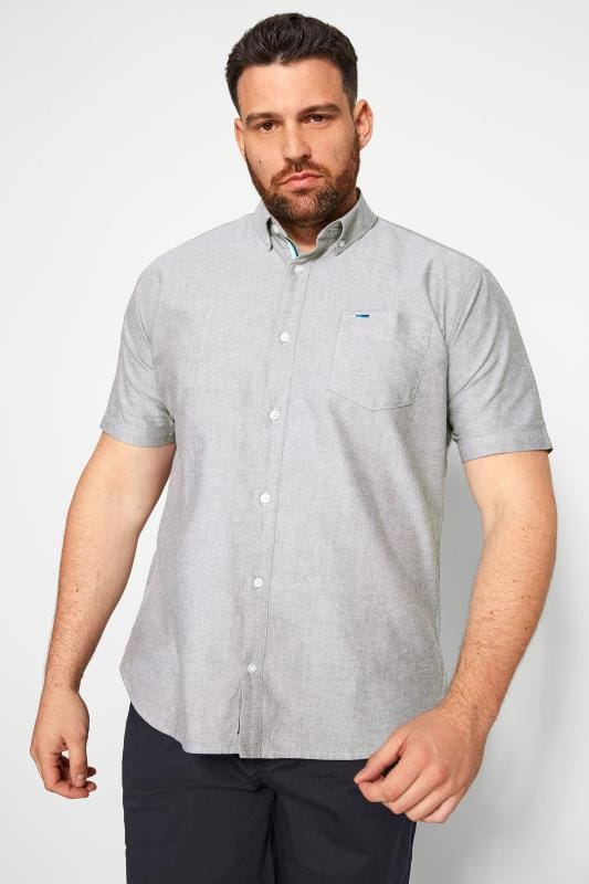 Plus Size Smart Shirts BadRhino Grey Oxford Shirt