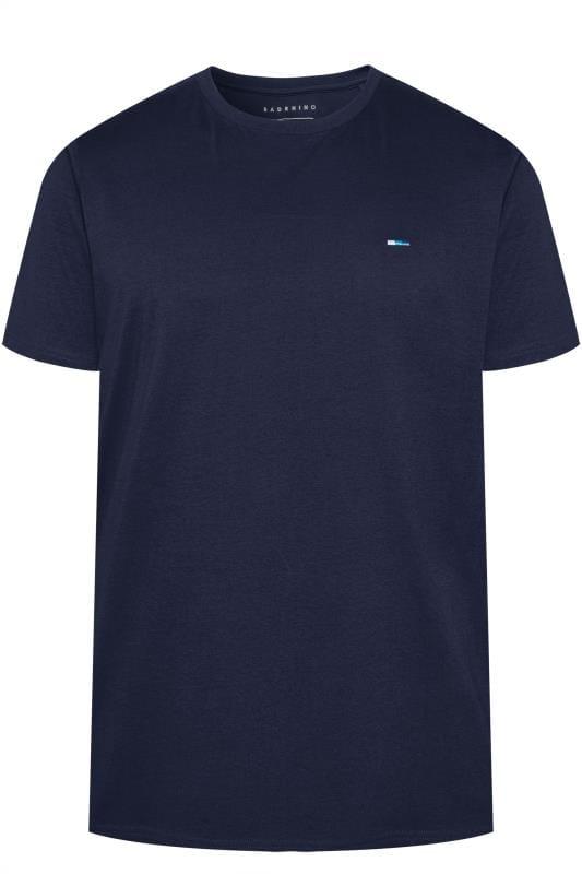 BadRhino Plain Navy Crew Neck T-Shirt