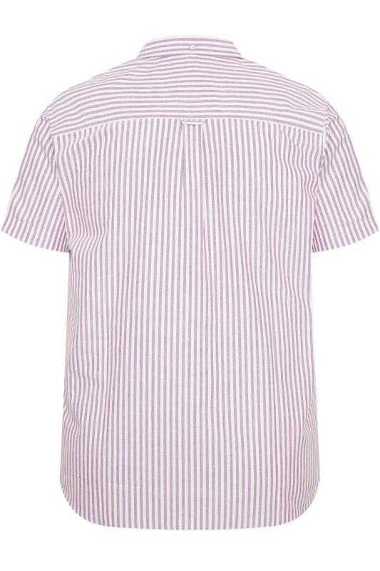 BadRhino Lilac Striped Short Sleeved Oxford Shirt_6400.jpg