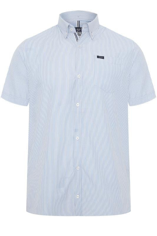 BadRhino Blue Stripe Non-Iron Short Sleeve Shirt