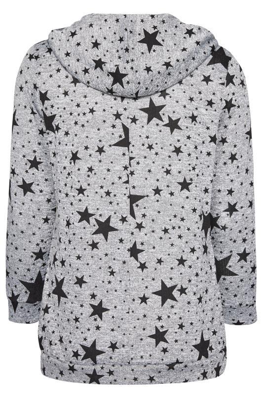 Hoodie mit Sternen-Muster - Grau