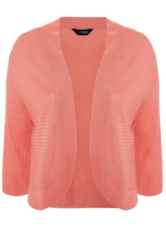 Pink Ribbed Stitch Detail Shrug
