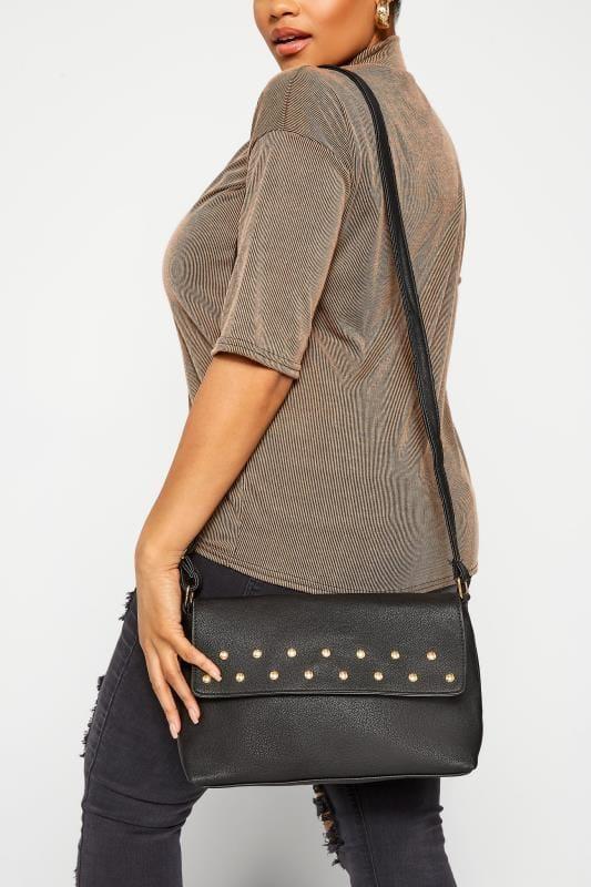 Cross Body Bags Grande Taille Black Stud Cross Body Bag