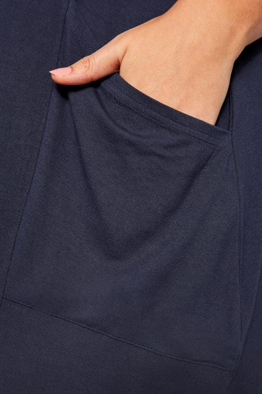 SUSTAINABLE Kleid mit Taschen aus recycelten Fasern - Navy