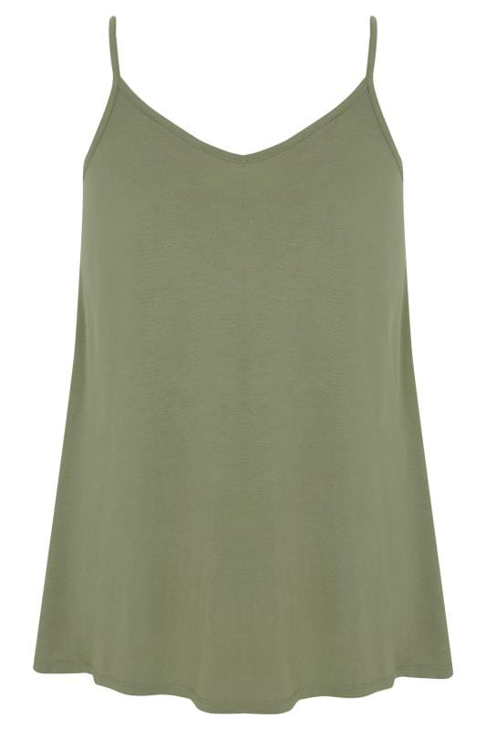 Khaki Swing Vest Top
