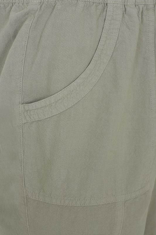 Sage Green Cool Cotton Pull On Shorts_0f67.jpg