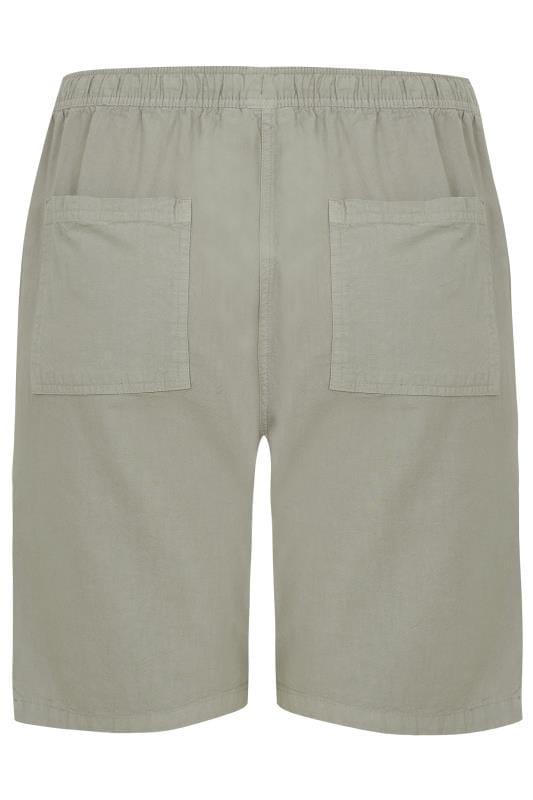 Sage Green Cool Cotton Pull On Shorts_8b16.jpg